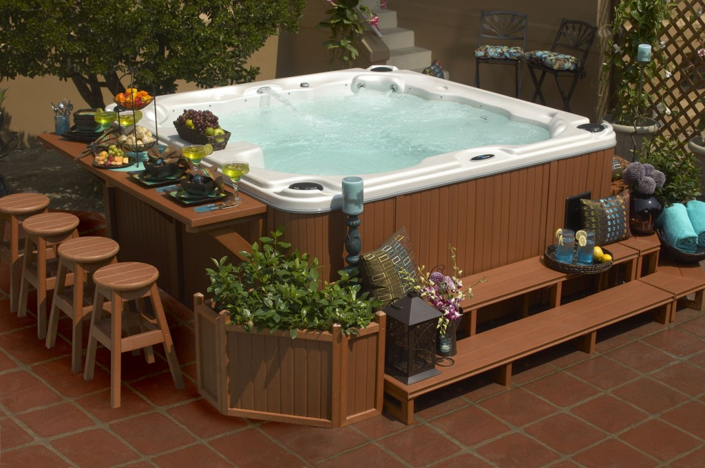 Elegant Best 25+ Backyard Hot Tubs Ideas Only On Pinterest | Diy Hottub, Wood Fired Hot  Tub Diy And Hot Tub Patio Design Ideas